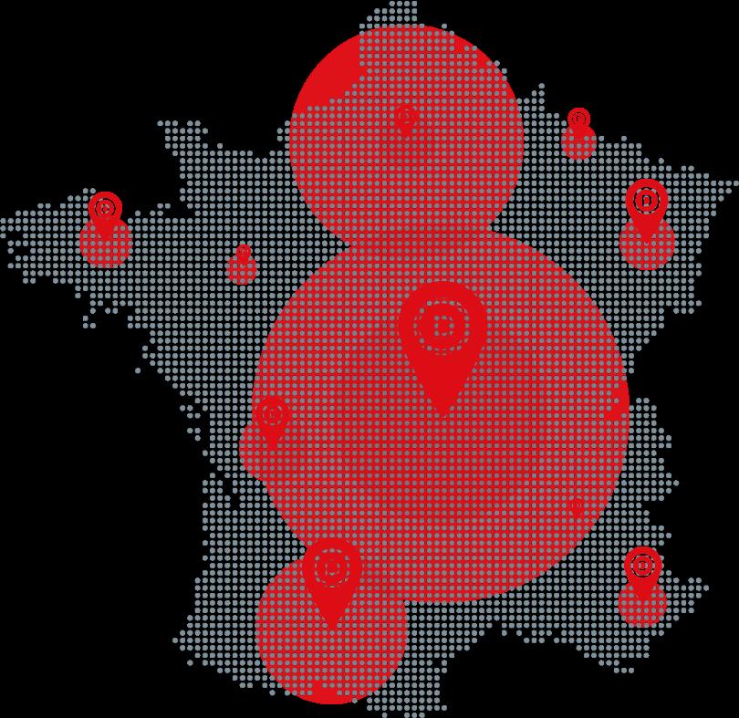 Carte des opportunités DAL'ALU en France