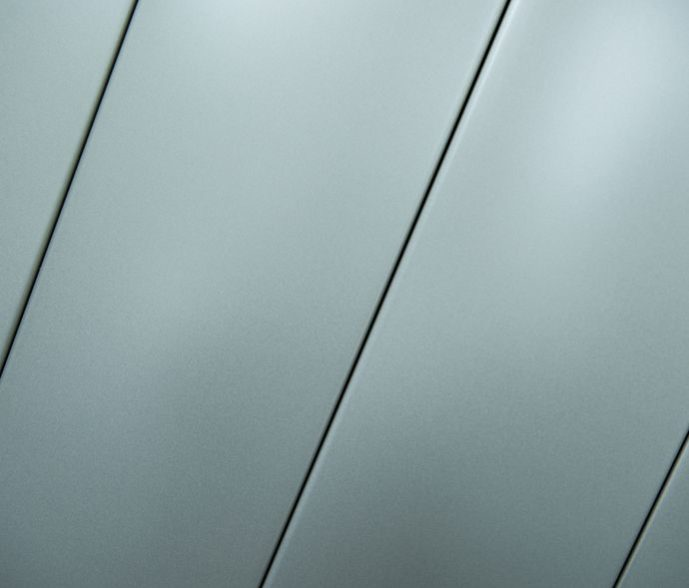Bardages plan bleu aluminium